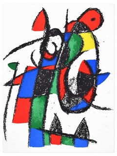 Composition II - Original Lithograph by Joan Mirò - 1974