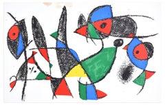 Composition IX - Original Lithograph by Joan Mirò - 1974