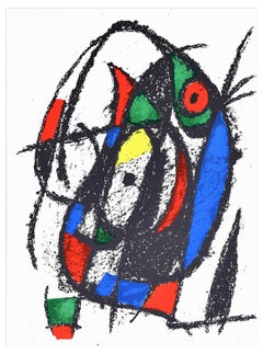 Composition - Original Lithograph by Joan Mirò - 1974