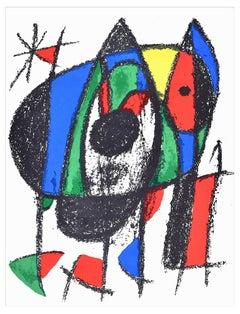 Composition V - Original Lithograph by Joan Mirò - 1974