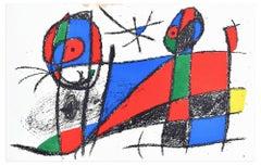 Composition VI - Original Lithograph by Joan Mirò - 1974