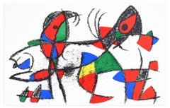 Composition X - Original Lithograph by Joan Mirò - 1974