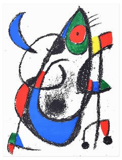 Composition XI - Original Lithograph by Joan Mirò - 1974