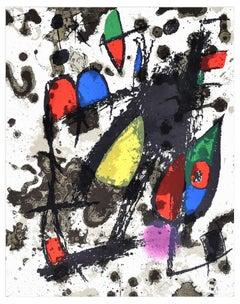 Coverture - Original Lithograph by Joan Mirò - 1974