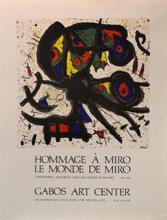 """Hommage á Miró, Le Monde de Miró"" Gabos Art Center, Event Poster"