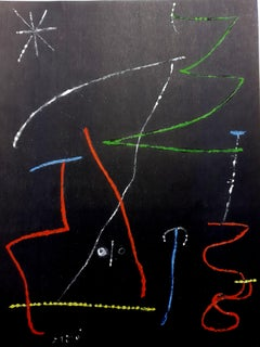 Joan Miro (After)  - Pochoir Pour 'XX Siecle'- Abstract Stencil