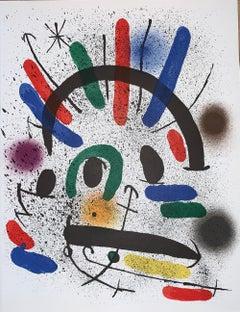 Joan Miró-Litografia-originale non firmata II -Surrealist-Figurative Print-1972