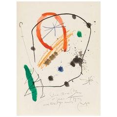 "Joan Miró ""Quelques Fleurs #13"" 1964"