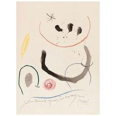 "Joan Miró ""Quelques Fleurs #26"" 1964"