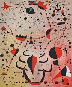 Le crepuscule rose caresse les femmes et les oiseaux, from Constellations