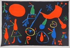 Constellations : People with Stars - Lithograph on vellum, 1949