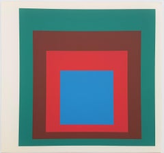 """Homage to the Square: Protected Blue (from """"Albers"""")"""