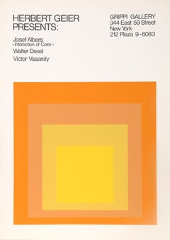Interaction of Color (Homage to the Square), Exhibition Silkscreen Poster 1973