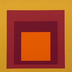 Josef Albers Homage to the Square screen-print 1977 (Josef Albers prints)