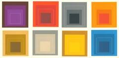 Josef Albers White Line Squares (portfolio of 8 announcements)