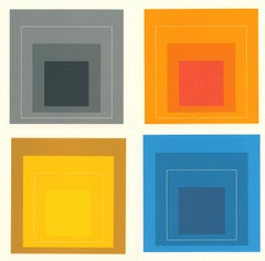Josef Albers White Line Squares (set of 4 announcements)