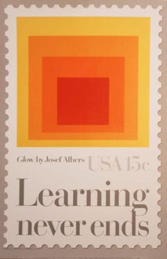 """""""Learning Never Ends"""" Stamp/The Department of Education-Featuring """"Glow"""""""