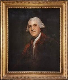 Portrait of Josiah Wedgwood, circle Sir Joshua Reynolds, period frame