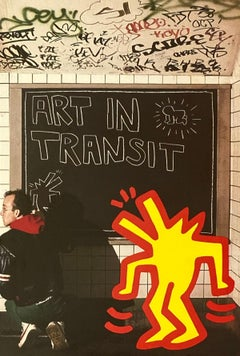 1984 Keith Haring Tseng Kwong Chi Art In Transit announcement