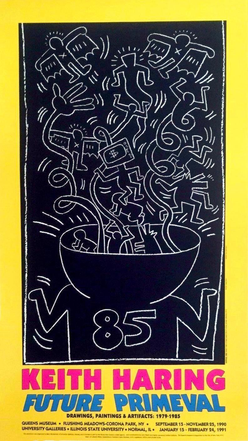 Keith Haring 1990 Future Primeval Exhibit Poster
