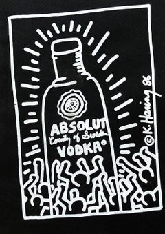 Keith Haring Absolut Vodka 1986 announcement (Keith Haring Andy Warhol)