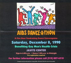 Keith Haring AIDS Dance-A-Thon poster 1990