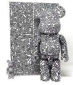 Keith Haring Be@rbrick 400% ( Keith Haring black & white BE@RBRICK)