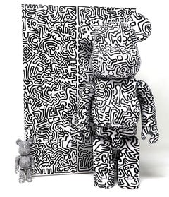 Keith Haring Be@rbrick 400% ( Keith Haring black & white BE@RBRICK)