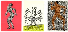 Keith Haring Bill T. Jones Into 84 (set of 3 Tony Shafrazi announcements)