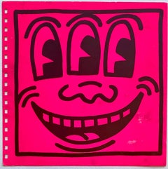 Keith Haring cover art 1982 (Keith Haring Three Eyed face)