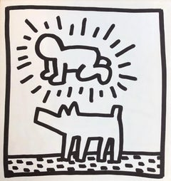 Keith Haring crawling baby lithograph 1982 (Keith Haring Tony Shafrazi gallery)