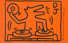 Keith Haring DJ Dog announcement 1991 (DJ Clark Kent, Keith Haring Foundation)