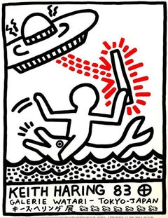 Keith Haring Galerie Watari poster (vintage Keith Haring posters)