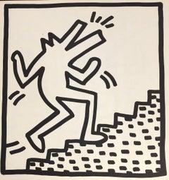 Keith Haring lithograph 1982 (Keith Haring barking dog)
