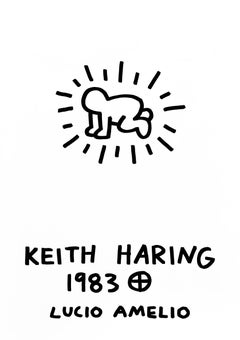Keith Haring Lucio Amelio 1983 (lithographic poster)