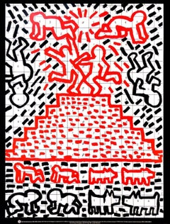 Keith Haring Pyramid, Child, Dog (lithographic poster)