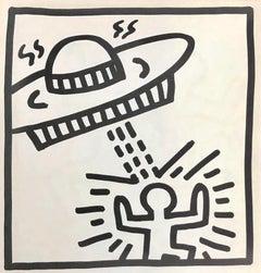Keith Haring spaceship lithograph 1982 (Haring prints)