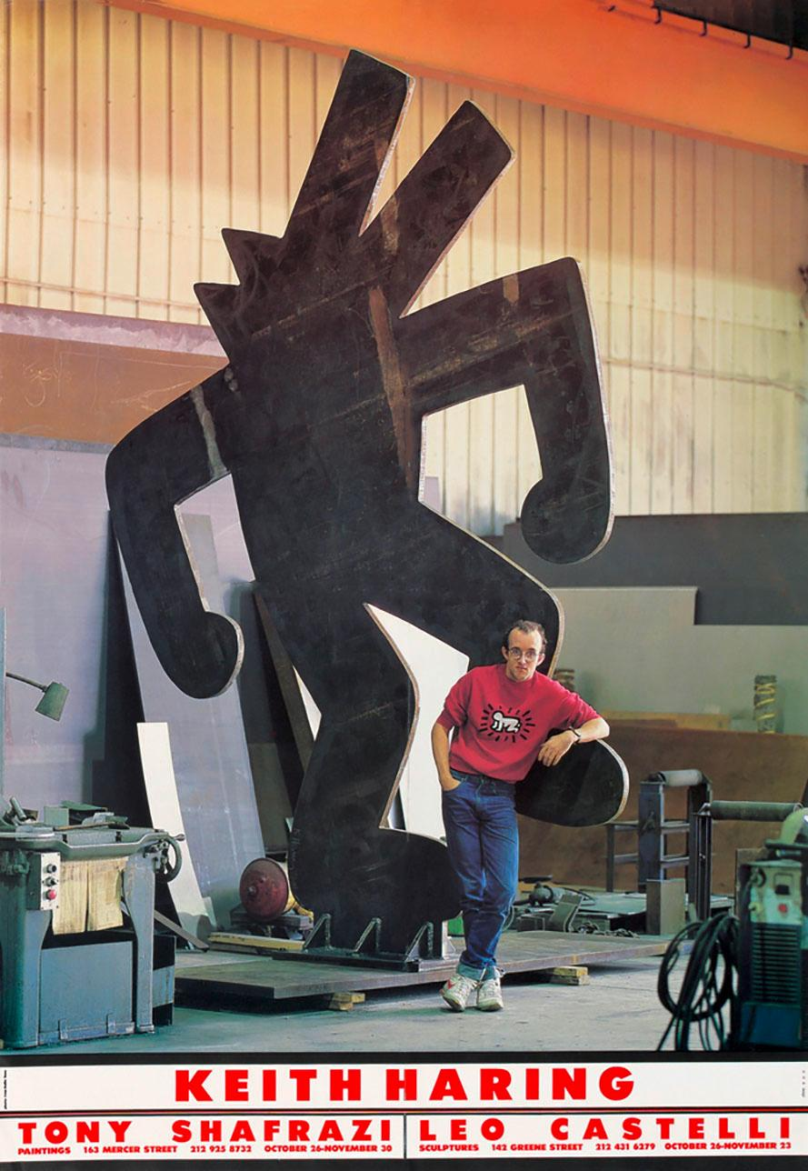 Keith Haring Tony Shafrazi Leo Castelli exhibition poster 1985