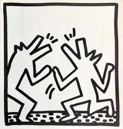 Keith Haring (untitled) Crocodiles lithograph 1982 (Keith Haring prints)