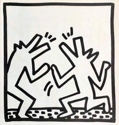 Keith Haring (untitled) Crocodiles lithograph 1982 (Keith Haring prints)