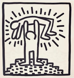 Keith Haring (untitled) figurative lithograph 1982 (Keith Haring prints)