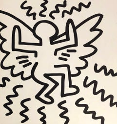 Keith Haring (untitled) Flying Angel lithograph 1982