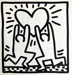 Keith Haring (untitled) Heart lithograph 1982 (Keith Haring heart)