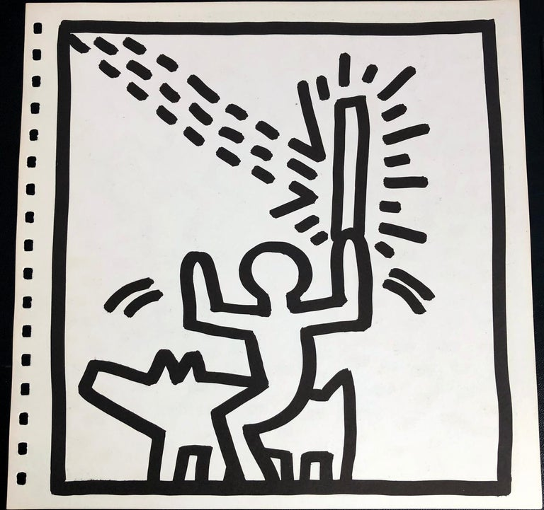 Keith Haring (untitled) Laser Beam lithograph 1982 - Pop Art Print by (after) Keith Haring
