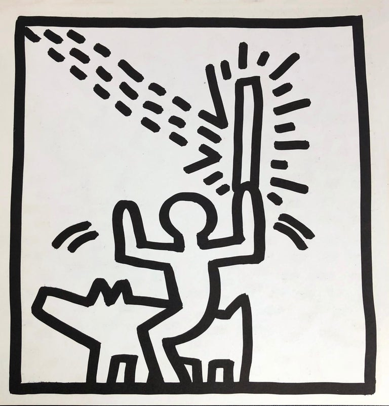 Keith Haring (untitled) Laser Beam lithograph 1982 - Print by (after) Keith Haring