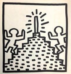Keith Haring (untitled) Pyramid lithograph 1982 (Keith Haring prints)