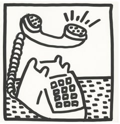 Keith Haring (untitled) Telephone lithograph 1982 (Keith Haring prints)