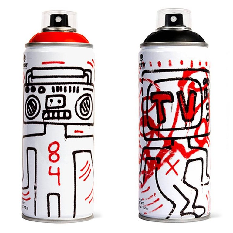 Limited edition Keith Haring spray paint can - Pop Art Print by (after) Keith Haring