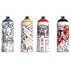 Limited edition Keith Haring spray paint can set