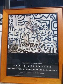 "Rare Vintage 1992 Annie Leibovitz Ica Exhibition Print Framed Poster "" Keith Har"